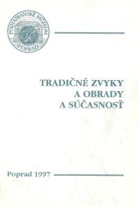 Etnograf a múzeum I. Poprad 1997